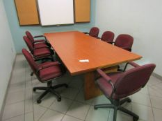 Boardroom Table with 7 Chairs