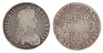 Charles II Crown, (1660-1685) TERTIO, 1671 (S. 3358)