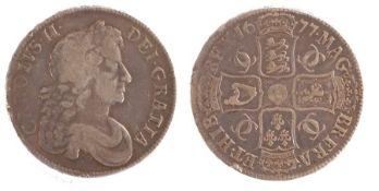 Charles II Crown, (1660-1685) NONO, 1677 (S. 3358)