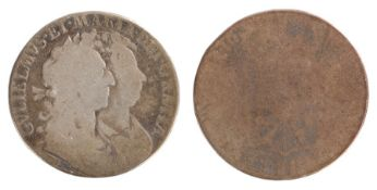William & Mary Half Crown (1689-1694) 16 date rubbed, (S.3434)
