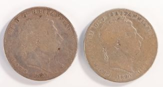 George III Crown (1760-1820) 1820 x 2 (S. 3787) (2)