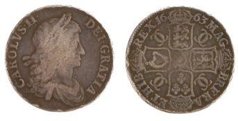 Charles II Crown, (1660-1685), 1663 (S. 3354)