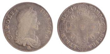 Charles II Crown, (1660-1685) Rose below bust, 1662, (S. 3350)