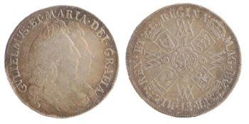 William & Mary Half Crown (1689-1694) 1693, (S.3436)