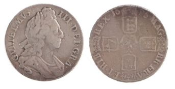 William III Crown, (1694-1702) First bust, 1696, (S. 3470)