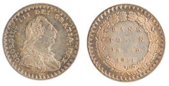 George III (1760-1820) Bank Token 1S 6D, 1811