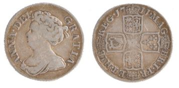 Anne (1702-1714) 1711, Crowned Shields (S. 3610)