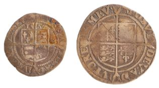 Elizabeth I (1558-1603) to include a Shilling and a Half Groat, (2)