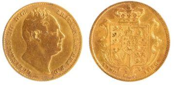 William IIII Sovereign (1830-1837) 1835, Second bust, shield reverse (3829B)