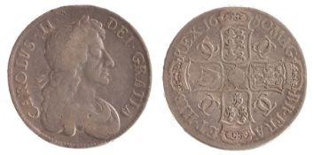 Charles II Crown, (1660-1685) Fourth Bust, 1680 (S. 3359)