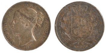 Victoria Crown (1837-1901) 1847, Shield Reverse, XI