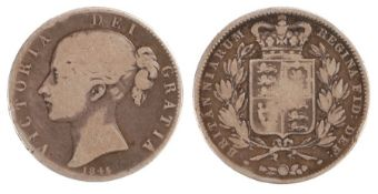Victoria Crown (1837-1901) Young head coinage, 1845, (S. 3882)