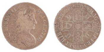 Charles II Crown, (1660-1685) QVINTO, 1673 (S. 3358)