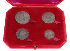 Rare four coin set, Scotland Ayrshire, set of four silver pattern, Half Crown, Shilling and