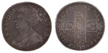 Anne Crown (1702-1714) 1707 SEPTIMO (S. 3601)