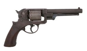 Scarce American Civil War period Starr 1858 Double Action .36 Caliber Percussion Navy Revolver , the