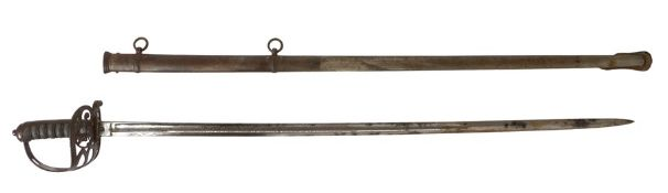 1827 pattern Rifle Officers Levee sword made by S.J Pillin, Gerrard Street, Soho, etched blade, 23