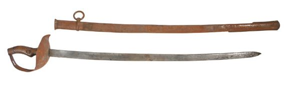 Spanish 1895 Pattern Cavalry Troopers Sword, curved unfullered blade, marked on one side of