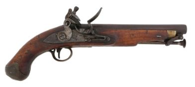 Tower New Land pattern flintlock pistol, plain lock with ' Tower' and GR over crown,barrel bearing