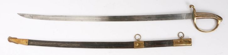 19th Century Continental sabre by the German maker Weyersberg, Kirschbaum & Cie, Solingen, curved