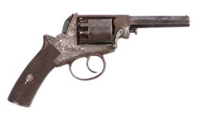 19th Century double action percussion revolver believed to be by H. Yeomans of London,stamped No.