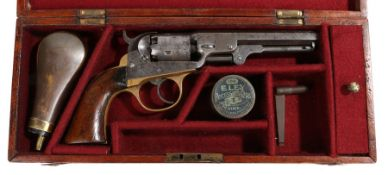 A scarce American Civil War Era Cooper's patent pocket model percussion revolver, double action, 5