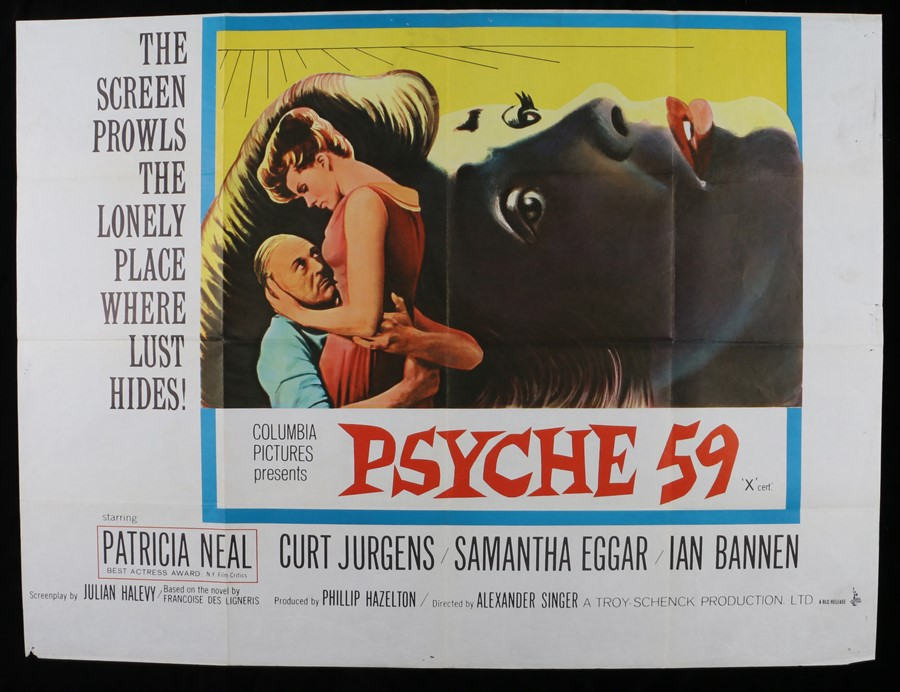 Lot 29 - Psyche 59 (1964) - British Quad film poster, starring Patricia Neal and Curt Jurgens, folded, 30""