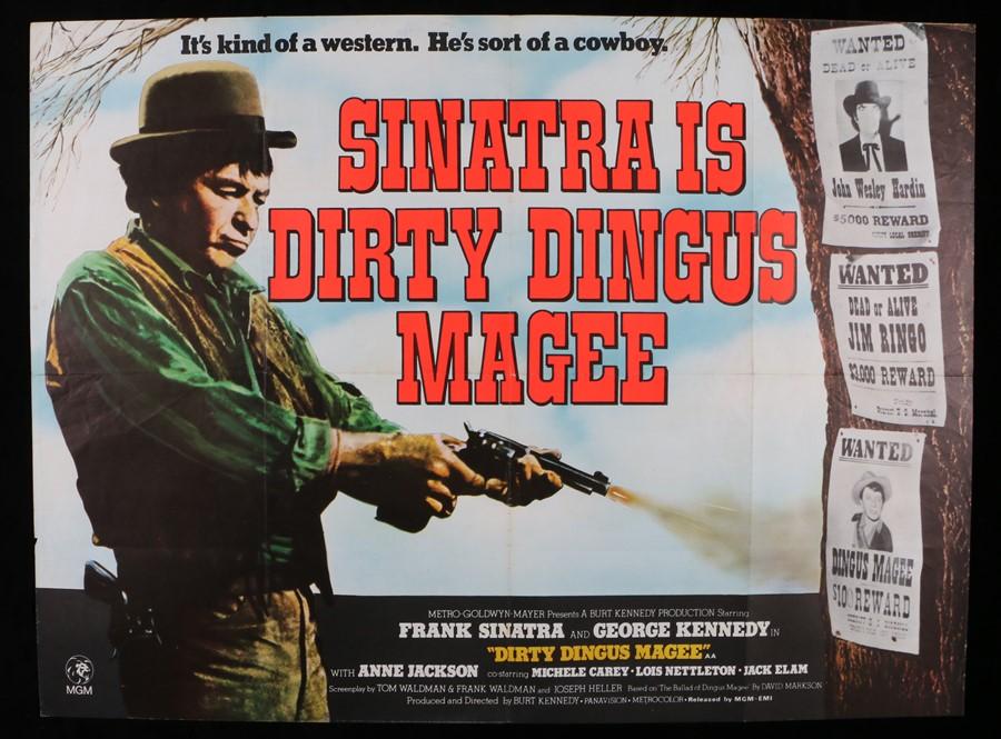"Lot 44 - Dirty Dingus Magee (1970) - British Quad film poster, starring Frank Sinatra, folded, 30"" x 40"""