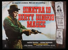 "Dirty Dingus Magee (1970) - British Quad film poster, starring Frank Sinatra, folded, 30"" x 40"""