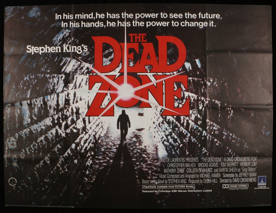 Lot 23 - The Dead Zone (1983) - British Quad film poster, starring Christopher Walken and Brooke Adams,