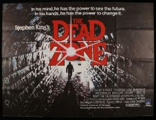 The Dead Zone (1983) - British Quad film poster, starring Christopher Walken and Brooke Adams,