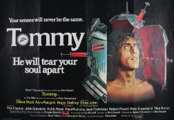 "Tommy (1975) - British Quad film poster, starring Oliver Reed and Elton John, folded, 30"" x 40"""