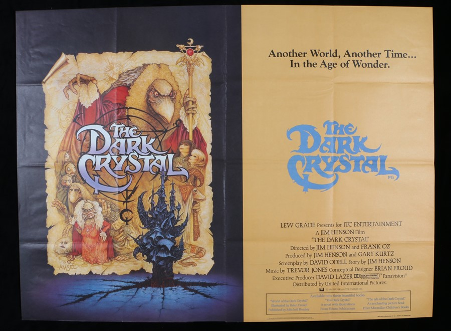 "Lot 56 - The Dark Crystal (1982) - British Quad film poster, designed by Richard Amsel, folded, 30"" x 40"""