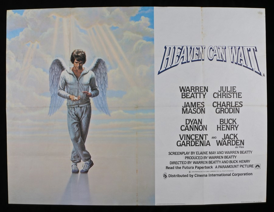 Lot 31 - Heaven Can Wait (1978) - British Quad film poster, starring Warren Beaty and Julie Christie, folded,