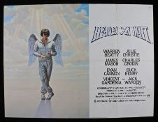 Heaven Can Wait (1978) - British Quad film poster, starring Warren Beaty and Julie Christie, folded,