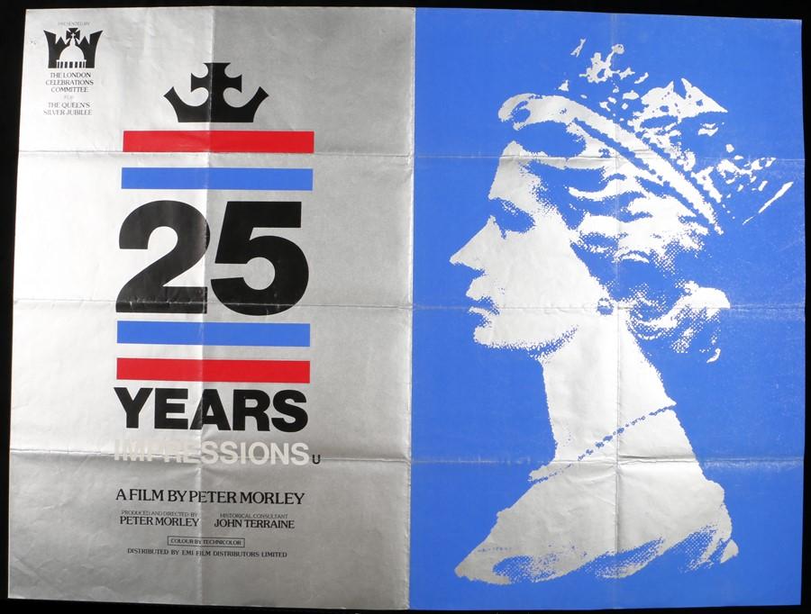 "Lot 51 - 25 Years Impressions (1977) - British Quad film poster, folded, 30"" x 40"""