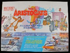 The Aristocats (1970) & The London Connection (1979) - British Quad double-bill posters, folded, 30""