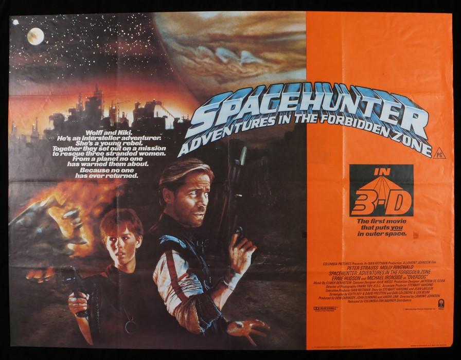"Lot 38 - Spacehunter: Adventures in the Forbidden Zone (1983) - British Quad film poster, folded, 30"" x 40"""