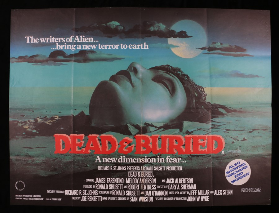 Lot 32 - Dead and Buried (1981) - British Quad film poster, designed by Dario Campanile, starring James