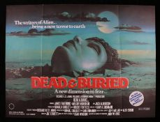 Dead and Buried (1981) - British Quad film poster, designed by Dario Campanile, starring James