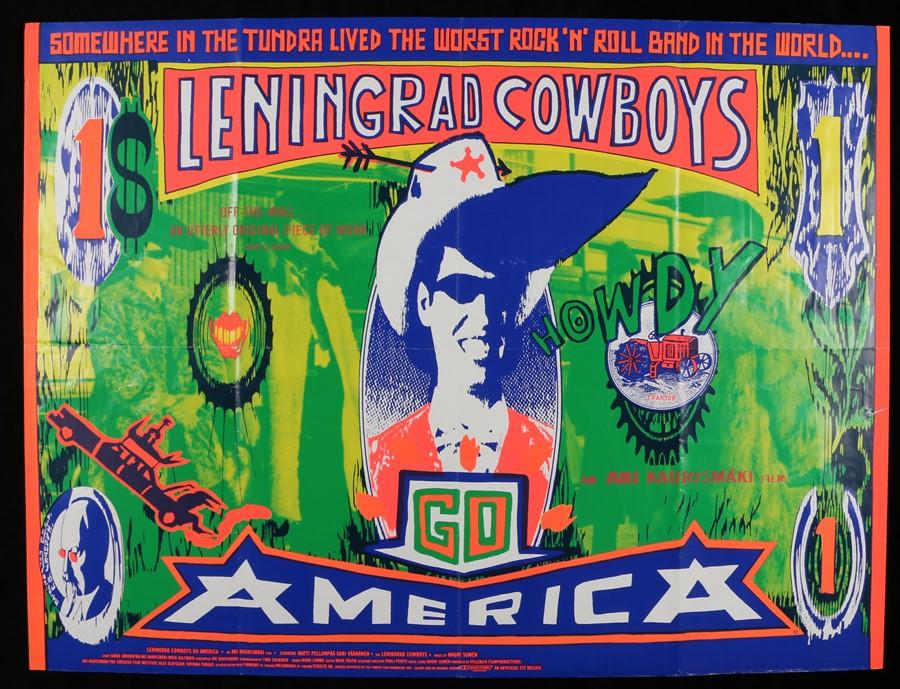 Lot 26 - Leningrad Cowboys Go America (1989) - British Quad film poster, starring With Matti Pellonpää and