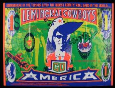 Leningrad Cowboys Go America (1989) - British Quad film poster, starring With Matti Pellonpää and