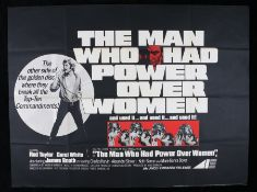 The Man Who Had Power Over Women (1970) - British Quad film poster, starring Rod Taylor, folded, 30""