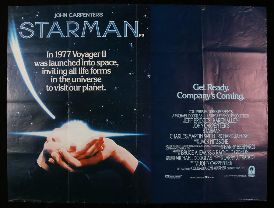 Lot 19 - John Carpenter's Starman (1984) - British Quad film poster, starring Jeff Bridges, Karen Allen,