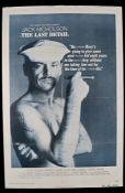 "The Last Detail (1973) - British one sheet film poster, starring Jack Nicholson, folded, 27"" x 40"""