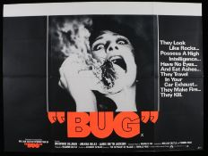 """Bug"" (1975) - British Quad film poster, starring Bradford Dillman and Joanna Miles, folded, 30"" x"