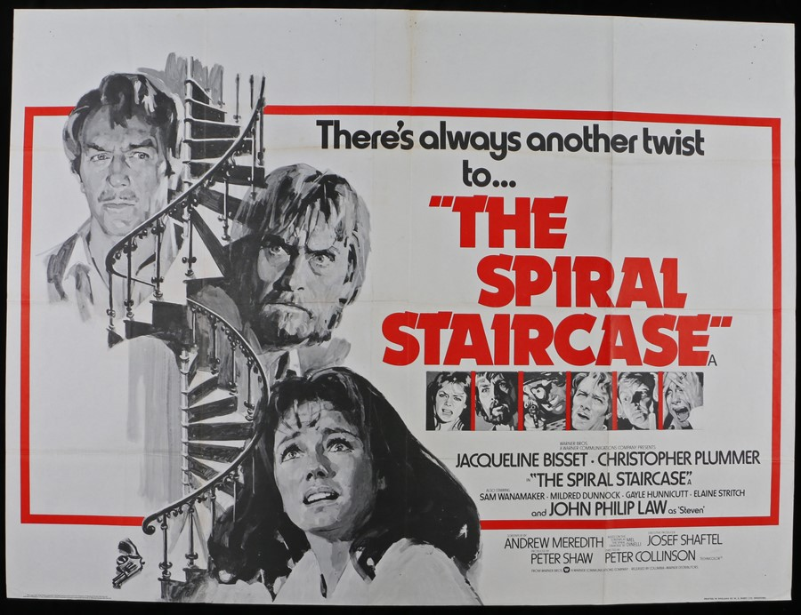 Lot 15 - The Spiral Staircase (1975 release) - British Quad film poster, starring Jacqueline Bisset and