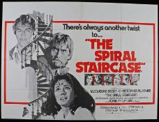 The Spiral Staircase (1975 release) - British Quad film poster, starring Jacqueline Bisset and