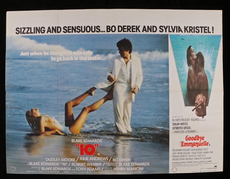 "Lot 48 - Blake Edwards' 10 (1979) - British Quad film poster, starring Dudley Moore, folded, 30"" x 40"""