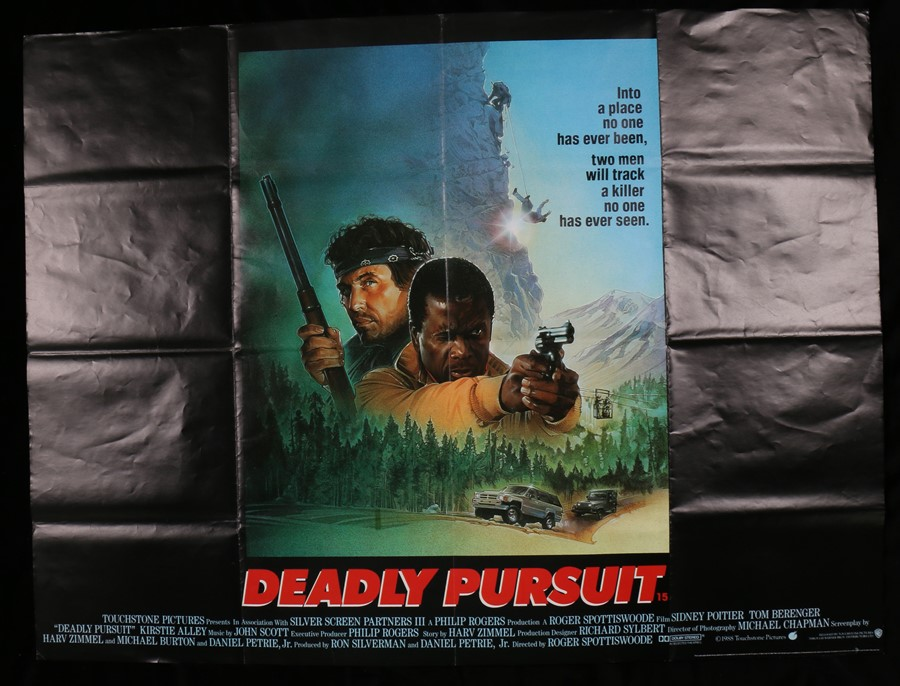 "Lot 11 - Deadly Pursuit (1988) British Quad film posters, folded, 30"" x 40"""